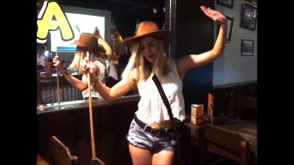 Paris Dancing during Australia Day at Skippy's Bar and Grill