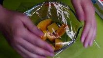 Halloween Pumpkin Pudding in Reused SAKE Cups ハロウィン かぼちゃプリン 自然に二層に分かれる リサイクル瓶