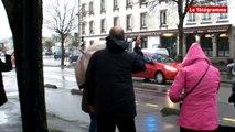 Concarneau. La parade pluvieuse des soldats du feu