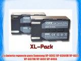 2 x vhbw set bater?as 1200mAh para videoc?mara Samsung VP-D362 VP-D364W VP-D371 VP-D371W VP-D451