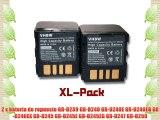 Set x2 bater?as vhbw 1200mAh (7.2V) para videoc?mara JVC por BN-VF714 BN-VF714U BN-VF707 BN-VF707U