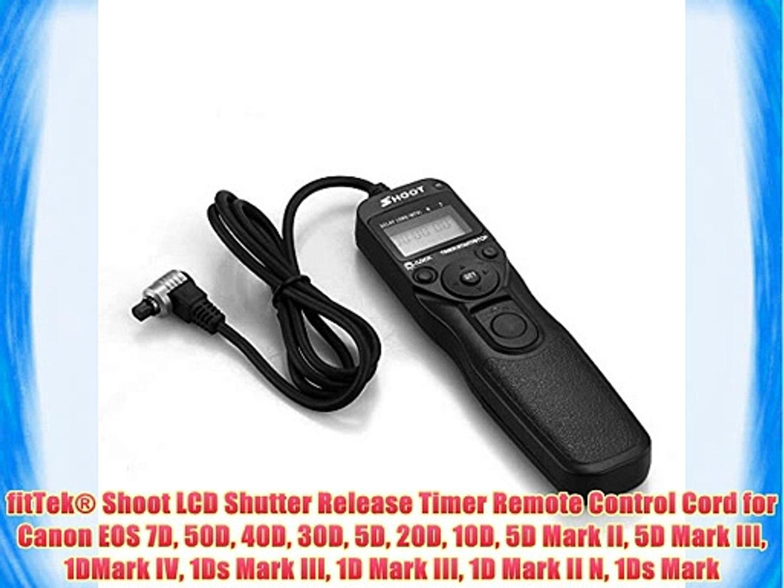 fitTek? Shoot LCD Shutter Release Timer Remote Control Cord for Canon EOS  7D 50D 40D 30D 5D