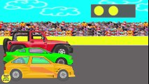 Courses de voitures. Des voitures, Des dessins animes pour enfants.  Fun Fan FUN Videos