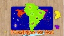 Dessins animés pour bébé en français. Apprendre les 6 continents et les animaux sauvages  Fun Fan FUN Videos