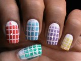 Checkered Ombre - Nail art designs _ superwowstyle Prachi
