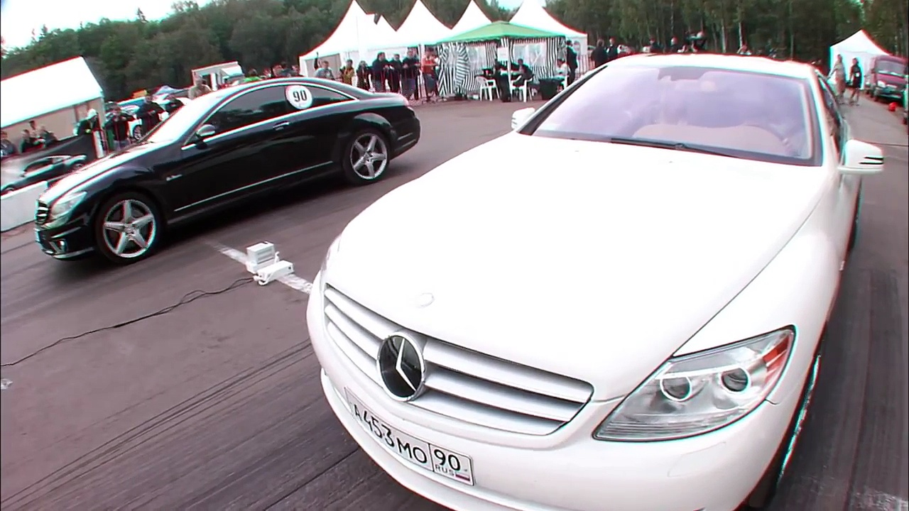 Mercedes CL63 AMG vs Mercedes CL600 Evotech