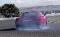 Prueba en vídeo: Audi R8 V10 2016 en el circuito del Jarama