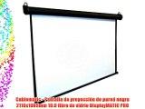 Cablematic - Pantalla de proyecci?n de pared negra 2110x1085mm 16:9 fibra de vidrio DisplayMATIC