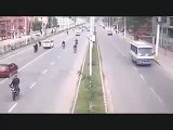 Nepal Earthquake   CCTV footage  at a road in nepal 25 April 2015  Historical Earthquakes