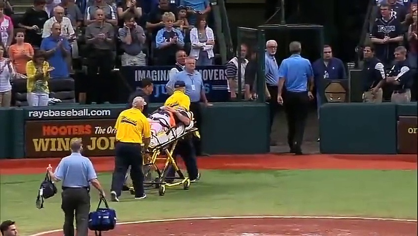 MLB NL AL Baseball Head-shot Injuries Completions 2016