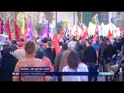 journee action mardi 26 janvier 2016- video CGT Aveyron