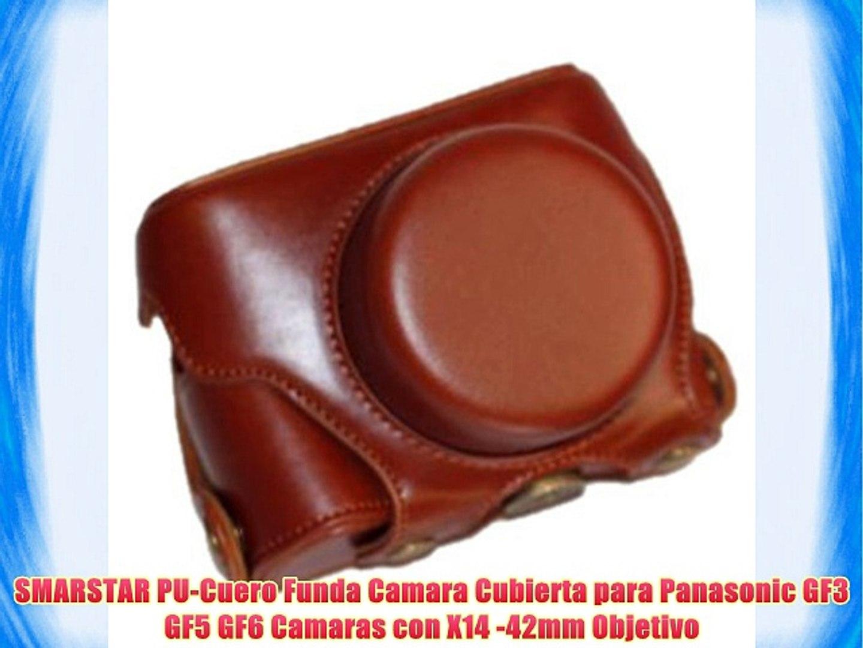 SMARSTAR PU-Cuero Funda Camara Cubierta para Panasonic GF3 GF5 GF6 Camaras con X14 -42mm Objetivo
