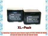 2 x vhbw set bater?as 2400mAh para videoc?mara para Canon Legria HF M52 HFM56 HF M506 HF R38