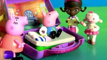 George Peppa Pig  & Goes to Doc McStuffins Mini Clinic Alphabet Peppa Pig English Episode Toy Surprise Egg - - isney Princess Surprise Eggs Frozen Peppa Pig Play Doh cars Pets Palace & kinder Surprise Eggs Frozen Play Doh Abc Songs