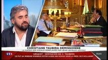 Alexis Corbière invité sur LCI à propos de la démission de Christiane Taubira le 27/01/2016