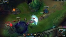 League of Legends Corki/Morgana vs Lucian/Braum Laning phase