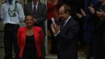 Passation de pouvoir : le discours d'adieux de Christiane Taubira
