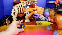 Imaginext Fisher-Price Mega T-Rex vs. Batman Robin and batbot Battle playset dinosaur dino
