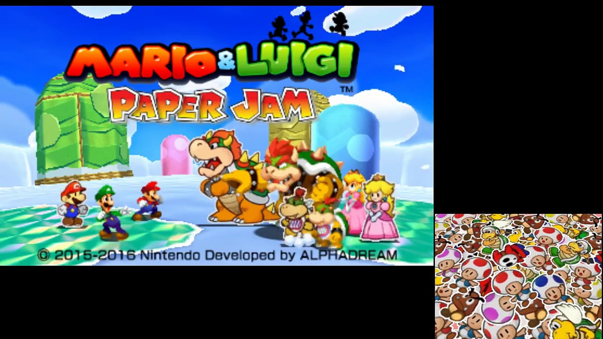 Mario Luigi Paper Jam Mount Brrr Stream