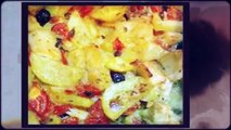 ricetta veloce baccalà al forno con patate,quick recipe salt cod with potatoes,快速配方盐鳕鱼配土豆,