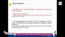 """Le saviez-vous ? """"Open Access, open data, droit d'auteur et droits voisins"""", conférence de Carine Bernault"""