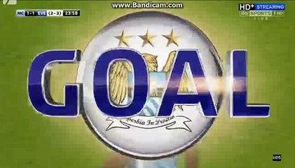 1st Half Goals Manchester City 1-1 Everton 27-01-2016