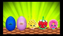 Shopkins surprise eggs and Frozen Anna Dance toys cartoon for toddlers and preschool child
