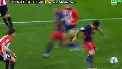 Ivan Rakitic Big Chance Barcelona 0-1 Athletico madrit