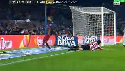 Neymar Super Chance Barcelona 1-1 Athletico Club 27-01-2016
