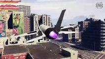 GTA V - INSANE BACKWARDS JET FLYING MONTAGE (TFS Titan