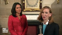 Rep. Tulsi Gabbard reacts to the State of the Union