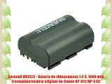 Duracell DRC511 - Bater?a de videoc?mara 7.4 V 1400 mAh (reemplaza bater?a original de Canon