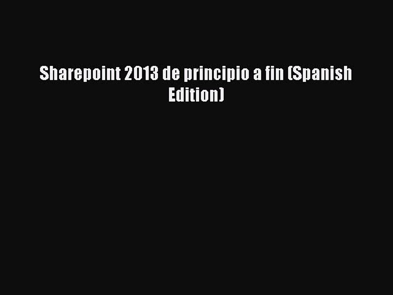 sharepoint 2013 de principio a fin pdf download free