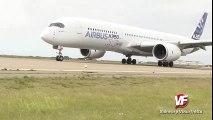 Airbus A350 æfir lendingar á Keflavíkurflugvelli í hliðarvindi // Airbus A350 in crosswinds at KEF  Crosswind Landing
