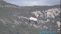 Strong Crosswind Landing - Austrian Airlines - Airbus A319 - SPU/LDSP Split airport  Crosswind Landing