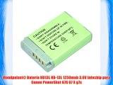 Mondpalast@ Bater?a NB13L NB-13L 1250mah 3.6V infochip para Canon PowerShot G7X G7 X g7x