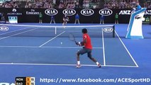 Milos Raonic vs Gael Monfils 2016_01_27 Quarter Final tennis highlights HD720p50 by ACE