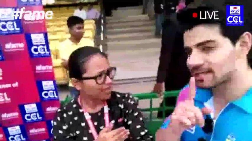 """Kriti Sanon and Sooraj Pancholi Live on #fame |  Mumbai Heroes – CCL 2016"""