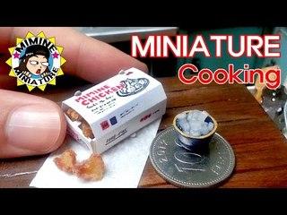 미니어쳐 진짜요리!! 반반치킨!! (맛봄ㅋㅋ) Miniature Real Cooking - Fried Chicken