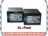 Set x2 bater?as vhbw 2200mAh para videoc?mara Sony DCR-SX65E DCR-SX85 DCR-SX85E DCR-SX85ES
