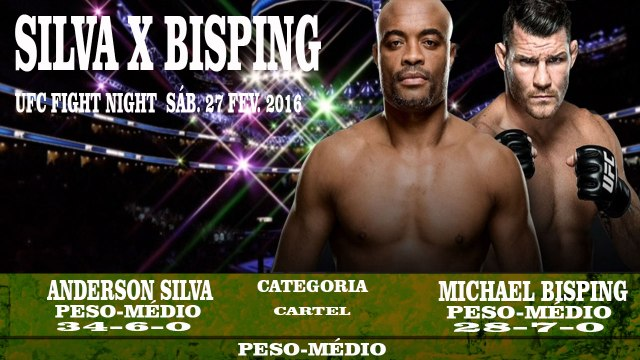 ANDERSON SILVA VS MICHAEL BISPING 27/01/16 UFC FIGHT NIGHT PESO MÉDIO