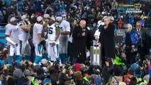 Panthers Celebrate NFC Championship Win | Cardinals vs. Panthers | NFL (720p FULL HD)