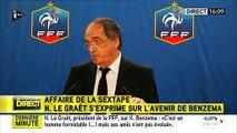 """Noël Le Graët, président de la FFF: """"Aujourd'hui, Karim Benzema n'est plus sélectionnable en équipe de France"""""""