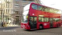 Buses at Oxford Circus London January 2016