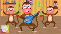 Five Little Monkeys Jumping on the Bed Nursery Rhyme - Animation Rhymes For Children| Animation