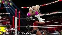 WWE 2K15 (PS4) Summer Rae doing Kelly Kellys Signatures  Finishers