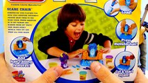 Disneys Frozen Barbie Elsa and Justin Bieber Crazy Hair Makeover Play Doh Scare Chair Toy