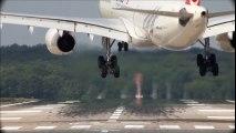 Extreme Crosswind Landing - Turkish Airlines Airbus A330 Drift ( HD )  Crosswind Landing