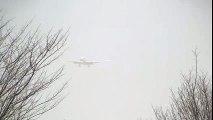 Storm!! American Airlines Boeing 777-200ER Crosswind Landing at Narita  Crosswind Landing