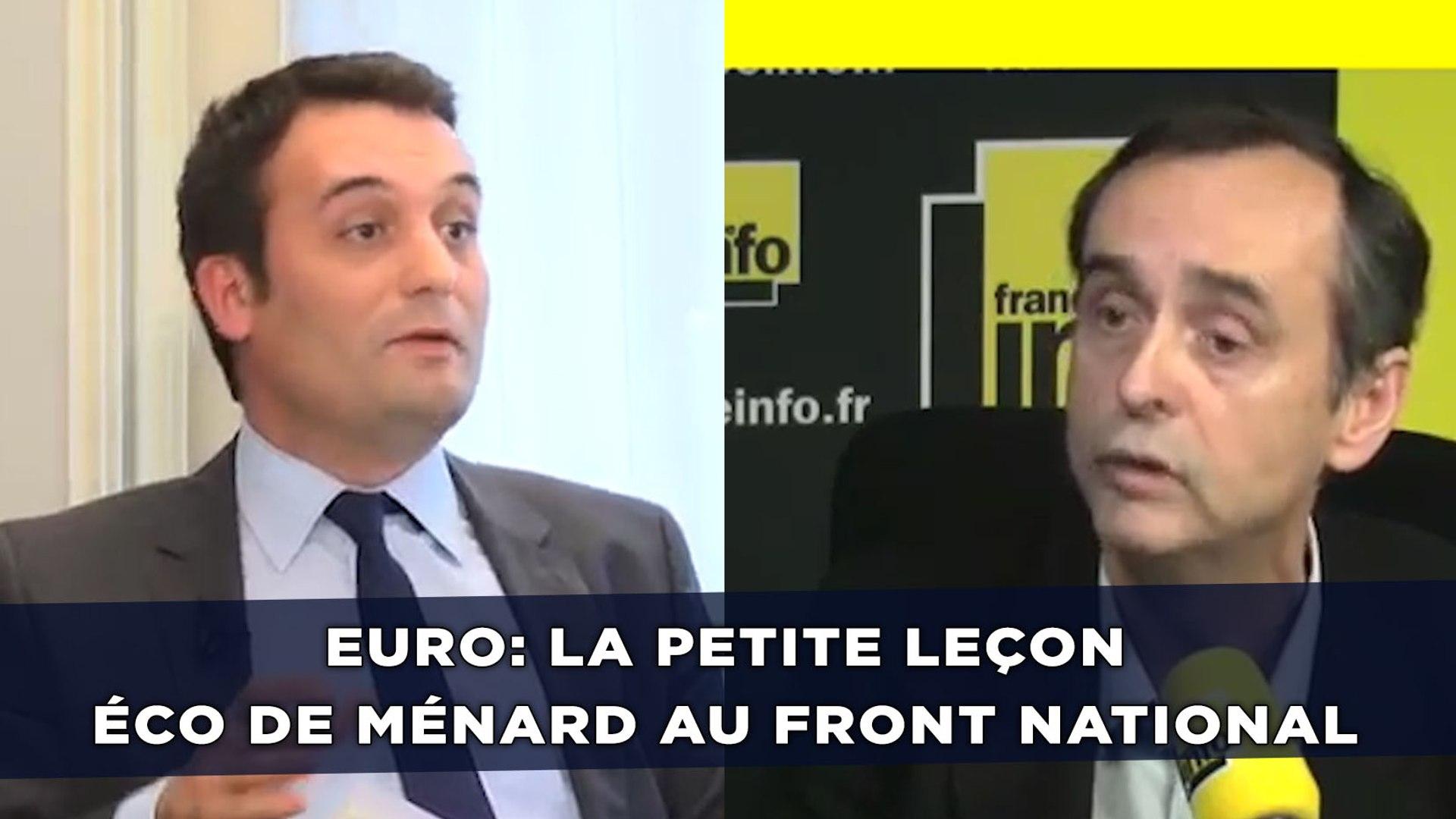 Euro: La petite leçon éco de Ménard au Front national